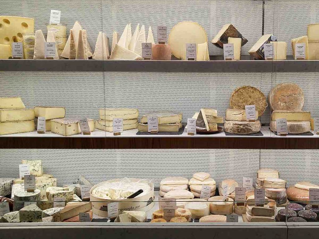 Cheese is the most famous food in France