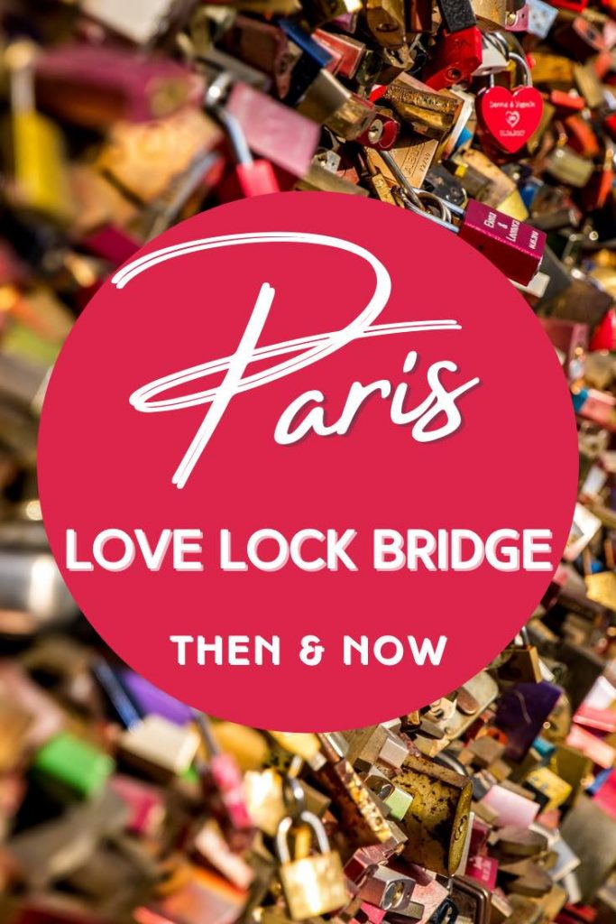 Colorful collection at the love locks bridge in Paris