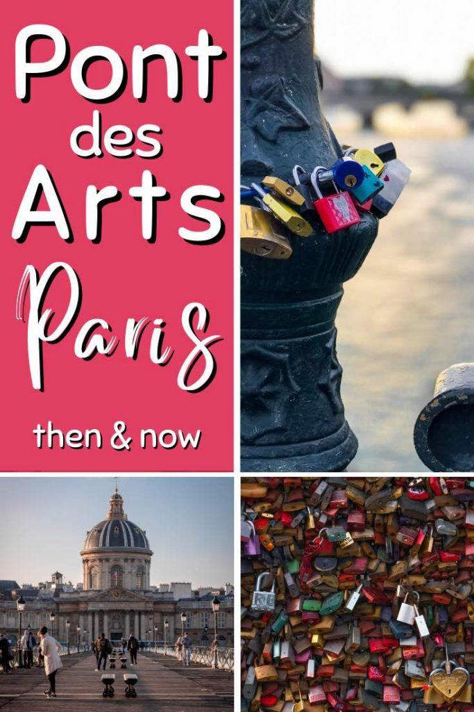 Pont des Arts or former love lock bridge Paris